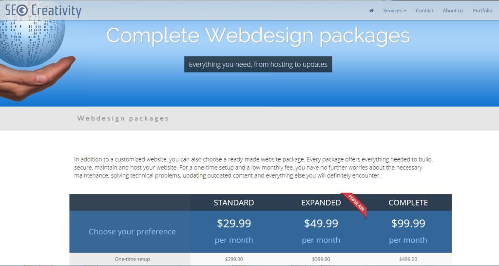 Affordable Web Design Packages