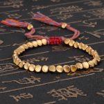 Handmade Tibetan Buddhist Copper Beads Bracelet