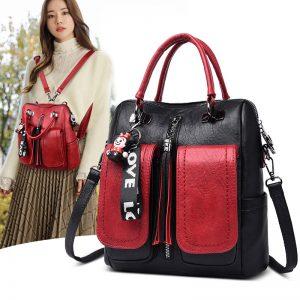 Stylish Vintage Soft PU Leather Shoulder Bag Backpack