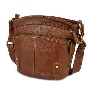 Genuine Leather Cross-body Handbag