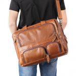 Beautiful Genuine Leather Men's Briefcase 15.6″ Laptop