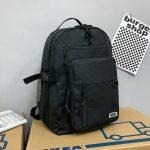 Large Capacity Nylon Unisex Student School Backpack